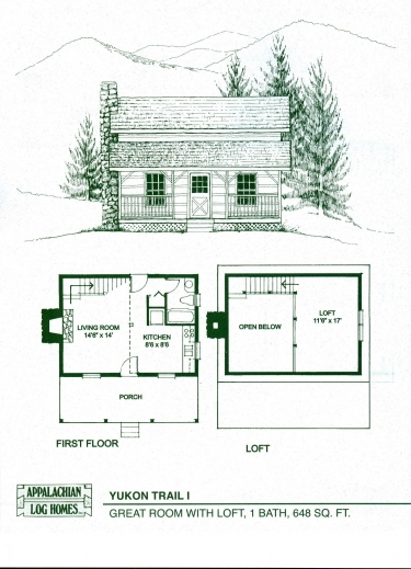 One room cabin with loft plans house floor plans for One room cabin floor plans