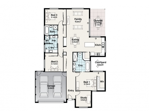 Marvelous 3 Bedroom House Plans True Design Homes 3 Bedroom House Plan Co Au Pic