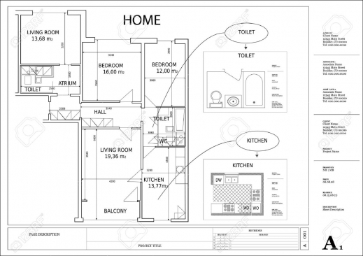 Marvelous Architectural Drawing House Plan Royalty Free Cliparts Vectors Home Plan Drawing Picture