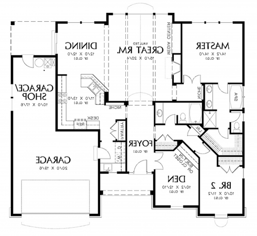 Gorgeous House Plans Single Story 1400 To 1700 5 Bedroom Designs