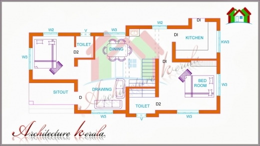 Marvelous Two Bedroom House Plan For Small Families Amp Small Plots Beautiful Plan 3 Bed Room Pooja Pics