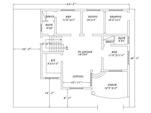Inspiring How To Make House Plans Autocad Arts House Plan In Autocad 2d Image House Floor Plans