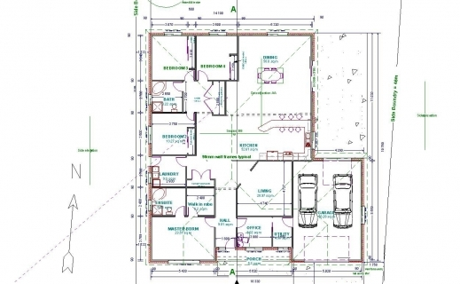 House plan in autocad 2d house floor plans Autocad house drawings