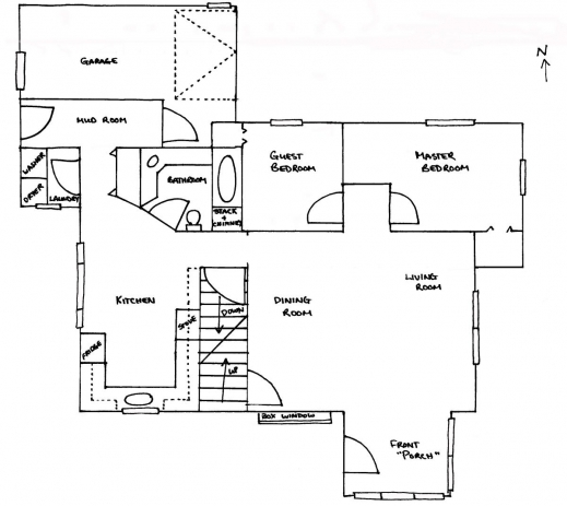 house plan in autocad 2d