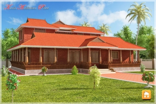 Outstanding Beautiful Traditional Nalukettu Model Kerala House Plan Traditional Kerala House Plan Photos