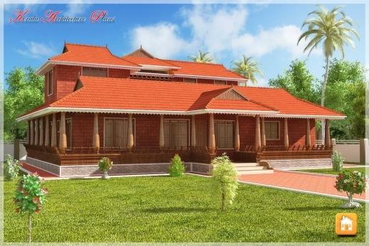 Outstanding Beautiful Traditional Nalukettu Model Kerala House Plan Traditional Kerala House Plan Photos