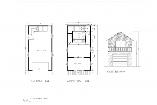 Elevation of a residential house floor plan house floor for Ready built homes floor plans