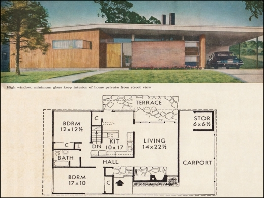 House Plans Mid Century Modern House Floor Plans