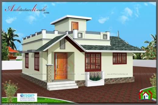 Remarkable 2 Bedroom House Plan And Elevation In 700 Sqft Architecture Kerala 700sqft Kerala Traditional House Plan With Staircase Poojamuri Pics