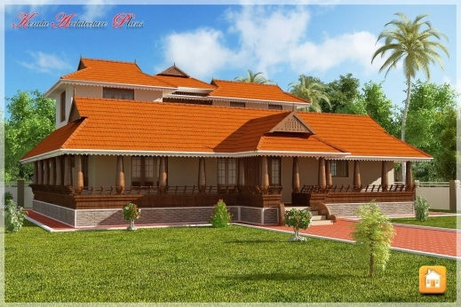 Remarkable Beautiful Traditional Nalukettu Model Kerala House Plan Traditional Kerala House Plan Pic
