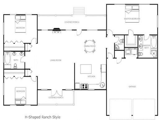 House plan l shaped ranch house plans for L shaped ranch plans