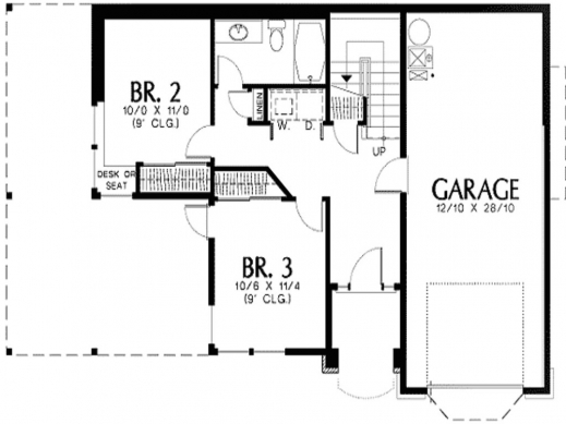 Remarkable L Shaped House Plans With Attached Garage Shaped Room ...
