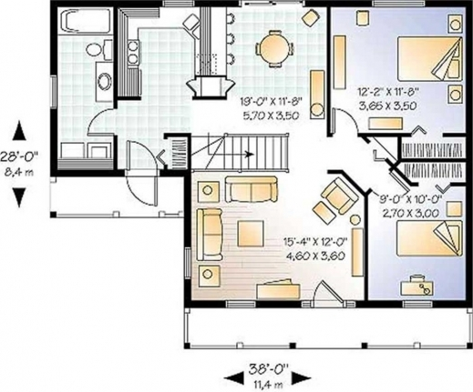Remarkable Large Images For House Plan 39126 1300 Small Farmhouse Plans Pictures