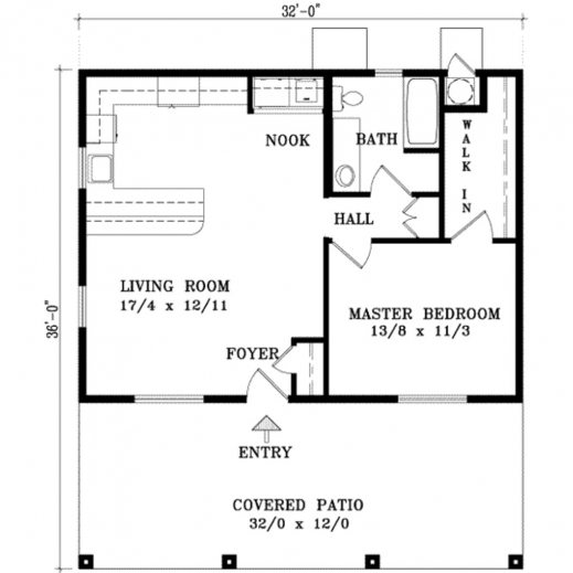 Remarkable One Bedroom Cottage Floor Plans And House On Pinterest One Bed And TV Room House Plan Pics