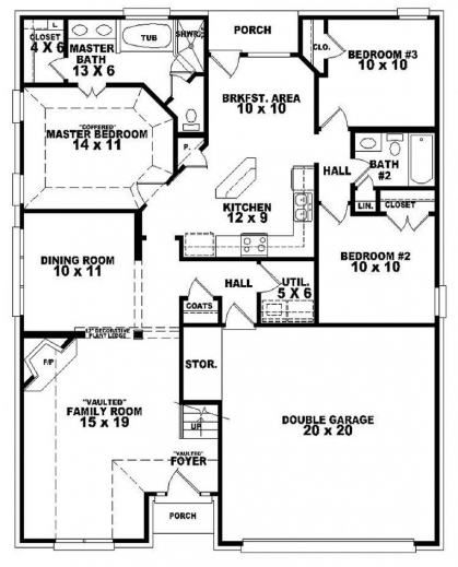Stunning 1000 Images About Floor Plans On Pinterest Floor Plans Searching For Three Bedroom Plan Pics