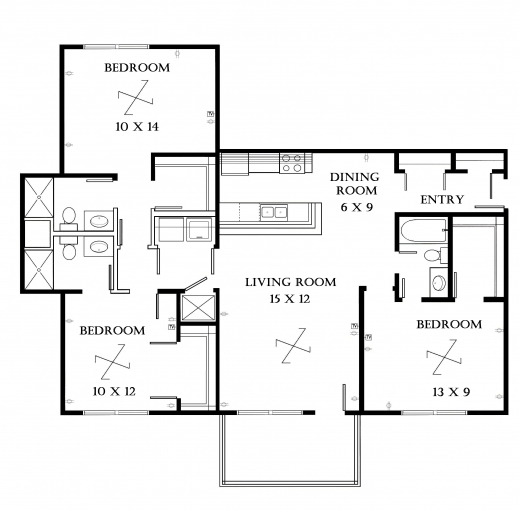 Amazing best 3 bedroom floor plan best home design luxury Bedroom furniture layout plan