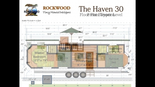 Stunning The Haven 30quot Tiny House Floor Plan And Elevations Youtube Tiny House Floor Plans Pictures