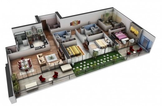 Stylish 1000 Images About Floor Plans And 3d Models On Pinterest Searching For Three Bedroom Plan Pictures