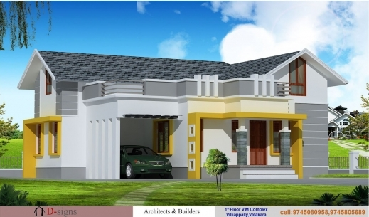 Stylish 1200 Sq Ft House Plans Kerala Style Arts 1200 Sq Ft Single Floor House Plans Images