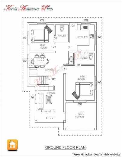 Stylish 3 Bed Room 1500 Square Feet House Plan Architecture Kerala 2000 SQUARE FEET 3 BEDROOM HOUSE PLAN AND ELEVATION  ARCHITECTURE KERALA Pics
