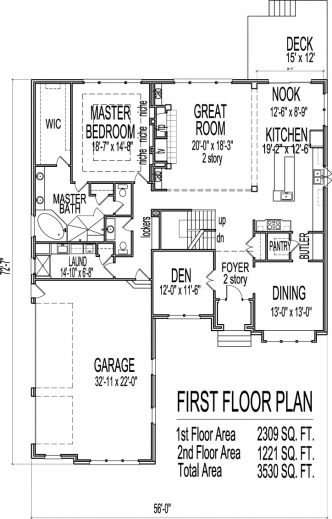 3 Bedroom 2 Floor House Plan House Floor Plans