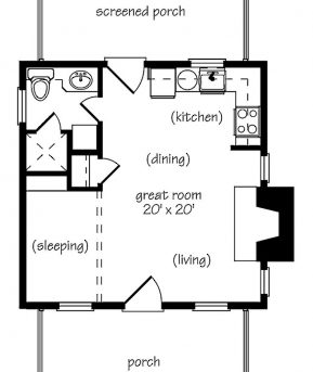 Wonderful 1000 Ideas About One Bedroom House Plans On Pinterest One One Bed And TV Room House Plan Pic