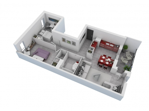 Wonderful 25 More 2 Bedroom 3d Floor Plans 7 Iranews Living Room And A Bedroom Floor Plan Pictures