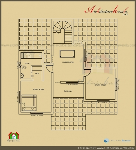 Beautiful plan 3 bed room pooja house floor plans for 2500 sq ft apartment plans