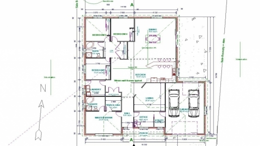 Wonderful Autocad 2d House Plan Drawings Arts House Plan In Autocad 2d Image