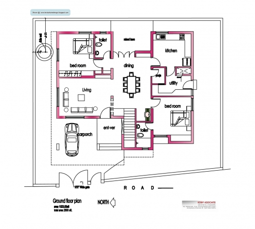Wonderful Modern House Plans In Kerala Medemco 2000 SQUARE FEET 3 BEDROOM HOUSE PLAN AND ELEVATION  ARCHITECTURE KERALA Picture