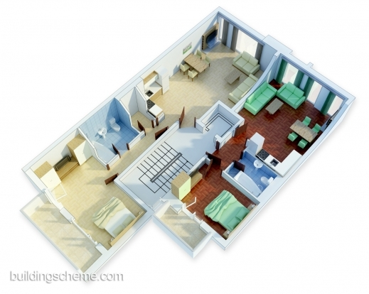 Amazing 1000 Images About 3d House Plans Amp Floor Plans On Pinterest 3d 3D Apartment & House Plan Pic