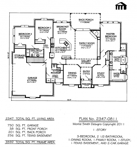 Amazing 2 Bedroom Bath Car Garage House Plans Arts Two Storey House Plans With 1 Garage Images