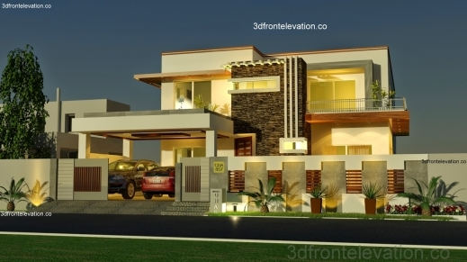Amazing 3d Front Elevation 1 Kanal House Plan Layout 5039 X 9039 3d Home Plan And Design With Elevation Pictures