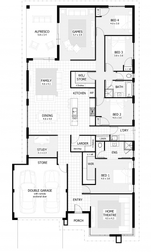 Amazing 4 Bedroom House Plans Amp Home Designs Celebration Homes Four Bedroom House Floor Plan Pictures