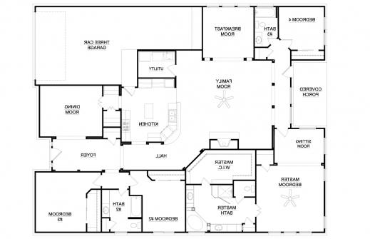 Amazing 4 Bedroom House Plans Ryanromeodesign Bedroom Plan Single Photo