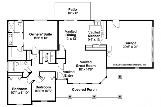 Amazing Bungalow House Plans Strathmore 30 638 Associated Designs Bungalow Floor Plan With Elevation Pics