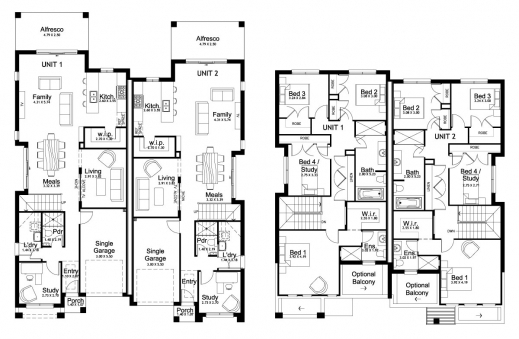 Duplex Floor Plan House Floor Plans