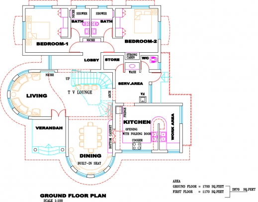 Amazing kerala villa plan and elevation kerala home design for Plan villa r 2