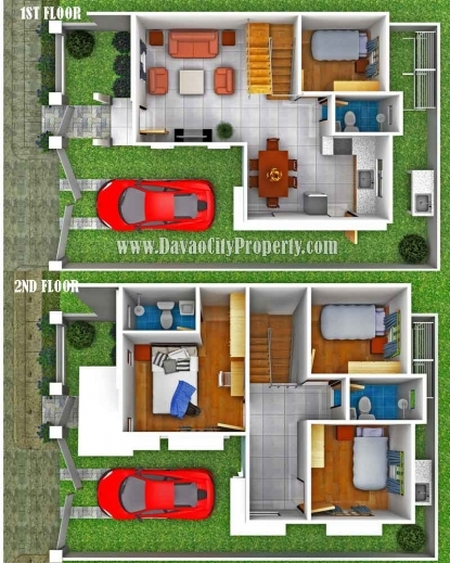 Amazing sample floor plan for 2 storey house small for Subdivision house plans