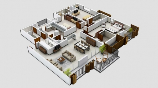 Amazing Simple House Plans House Plans And 2 Bedroom House Plans On 3 Bedroom Simple House Plans 3d Pic