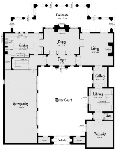 Awesome 1000 Ideas About Castle House Plans On Pinterest Custom Home Floor Plans For A Castle Pic