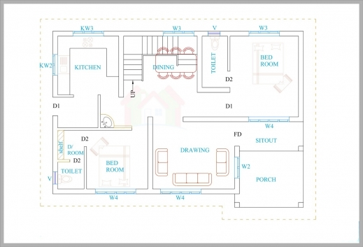 Awesome 3 Bhk House Plans In Kerala Arts Kerala Villa Floor Plans Picture