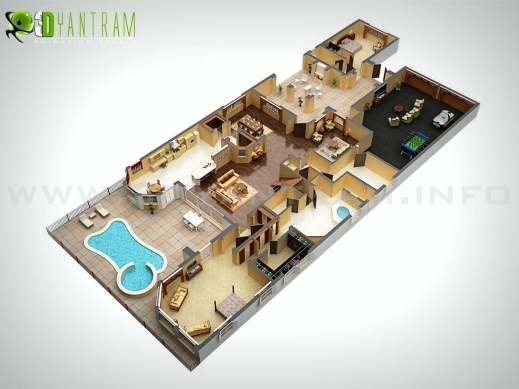 Awesome 3d Floor Plan Design Interactive Designer Planning For 2d Home 3d Plan Of House Images