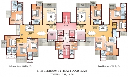 Awesome Bedroom Large 3 Bedroom Apartments Plan Travertine Picture 5 Bedroom Apartment / Home Plan Design Picture