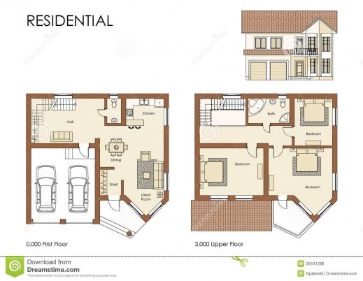 Awesome Residential House Plan Royalty Free Stock Photos Image 25641288 Residential Home Plan Image