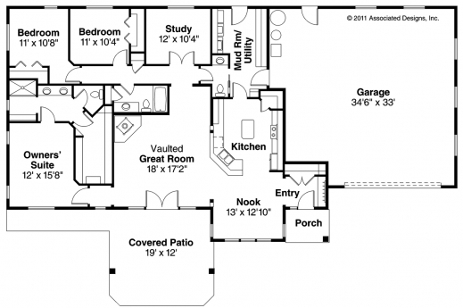 Best 1000 Images About Floor Plans 122715 On Pinterest Bedroom Simple Ranch House Plans 3 Bedroom Photo