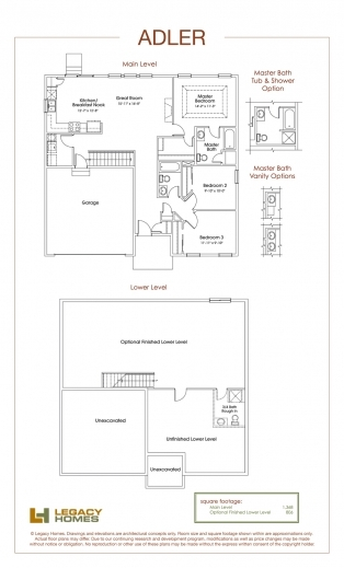 Best Legacy Homes Floor Plans Omaha Redmond Floorplan Legacy Homes Pic
