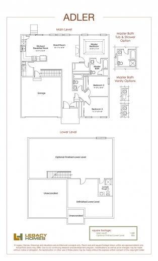 Best Legacy Homes Floor Plans Omaha Redmond Floorplan Legacy Homes Pic