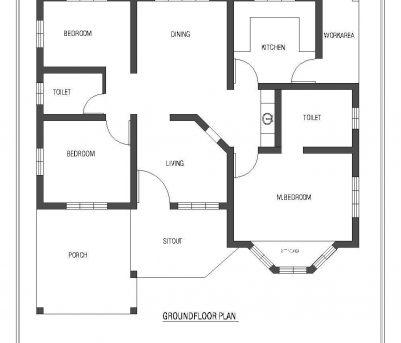 3 Bedroom Kerala House Plans - House Floor Plans