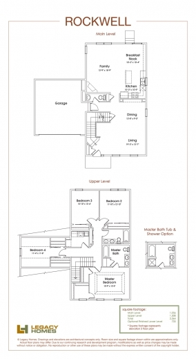 Best Rockwell Floor Plan Legacy Homes Omaha And Lincoln Redmond Floorplan Legacy Homes Photo